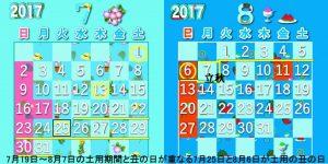 2017年土用の丑の日