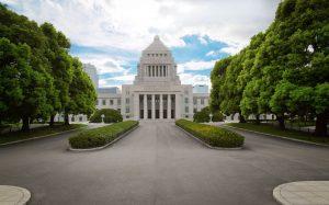 国会議員のいる国会議事堂