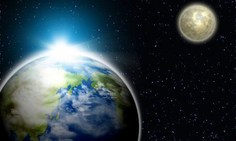 惑星の地球と衛星の月