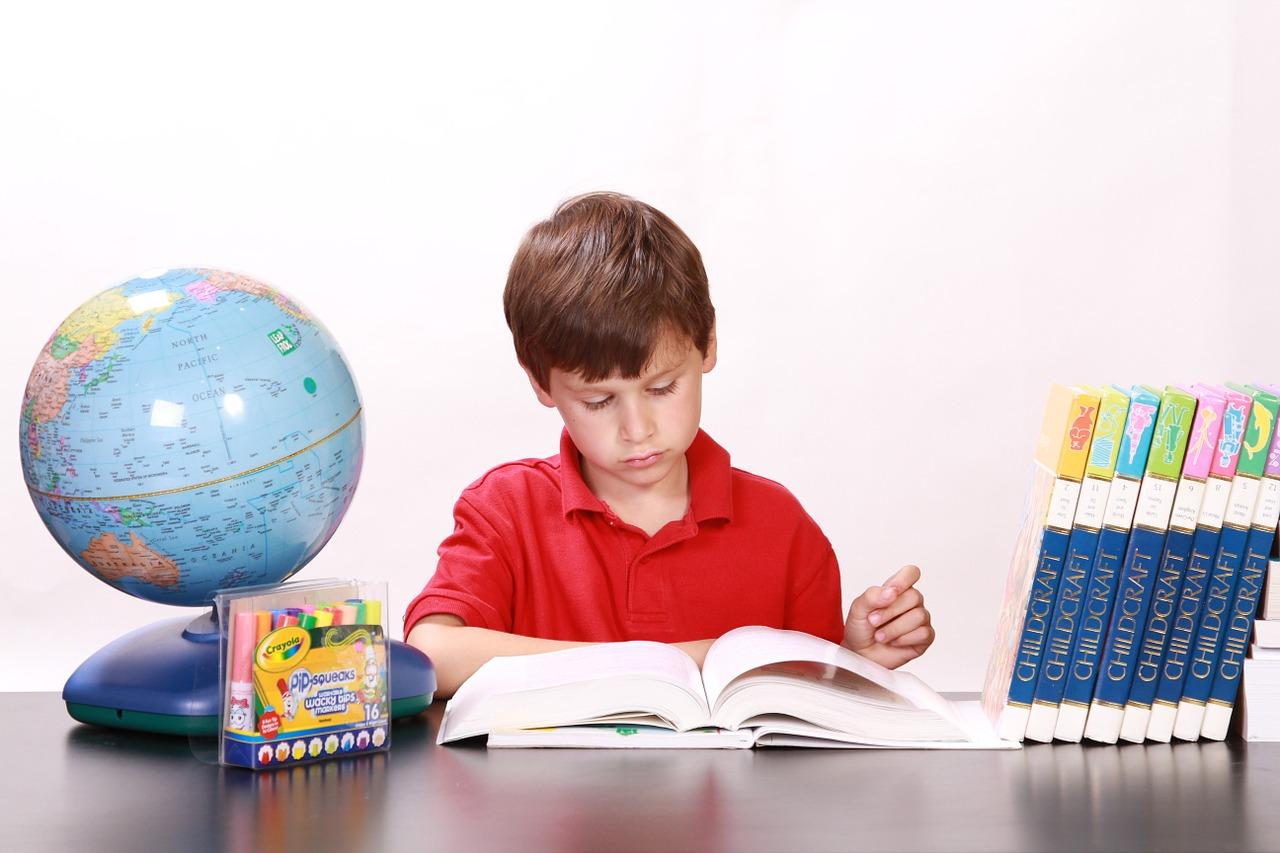 勉強が大好きな男の子