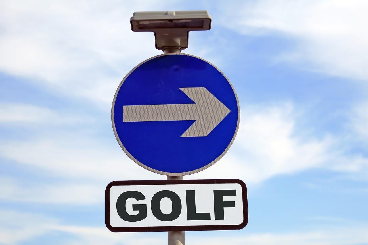 ゴルフ場の方向