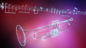 トランペットと楽譜