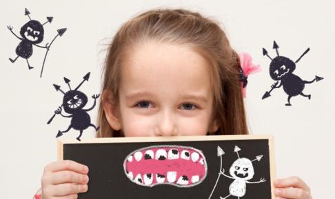 虫歯菌で虫歯になった女の子