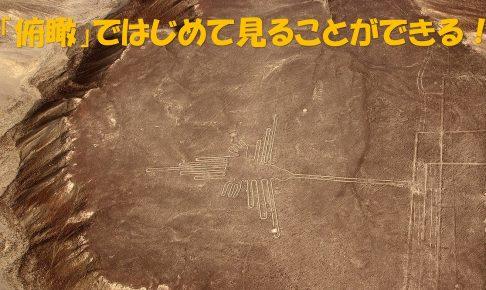 俯瞰して見るナスカの地上絵