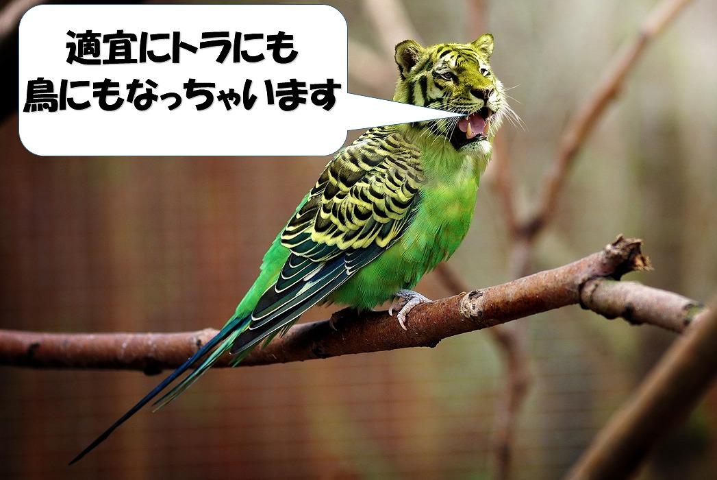 適宜にトラにも鳥にもなる不思議な鳥