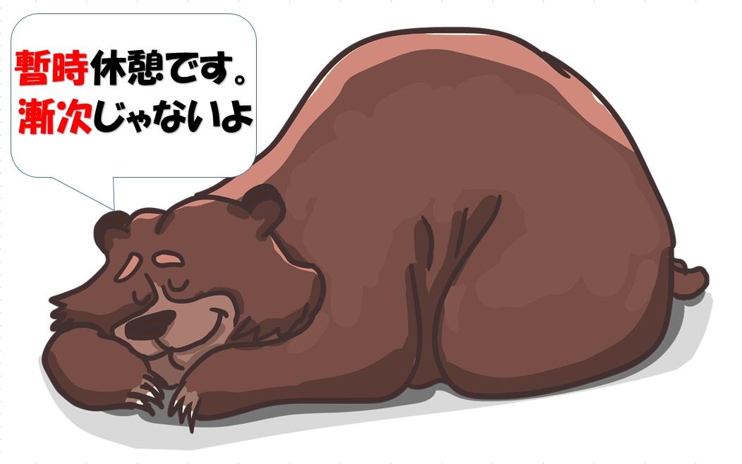暫時休憩している熊